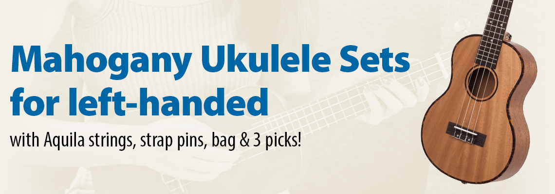 Premium Mahogany Ukulele Sets for left handed