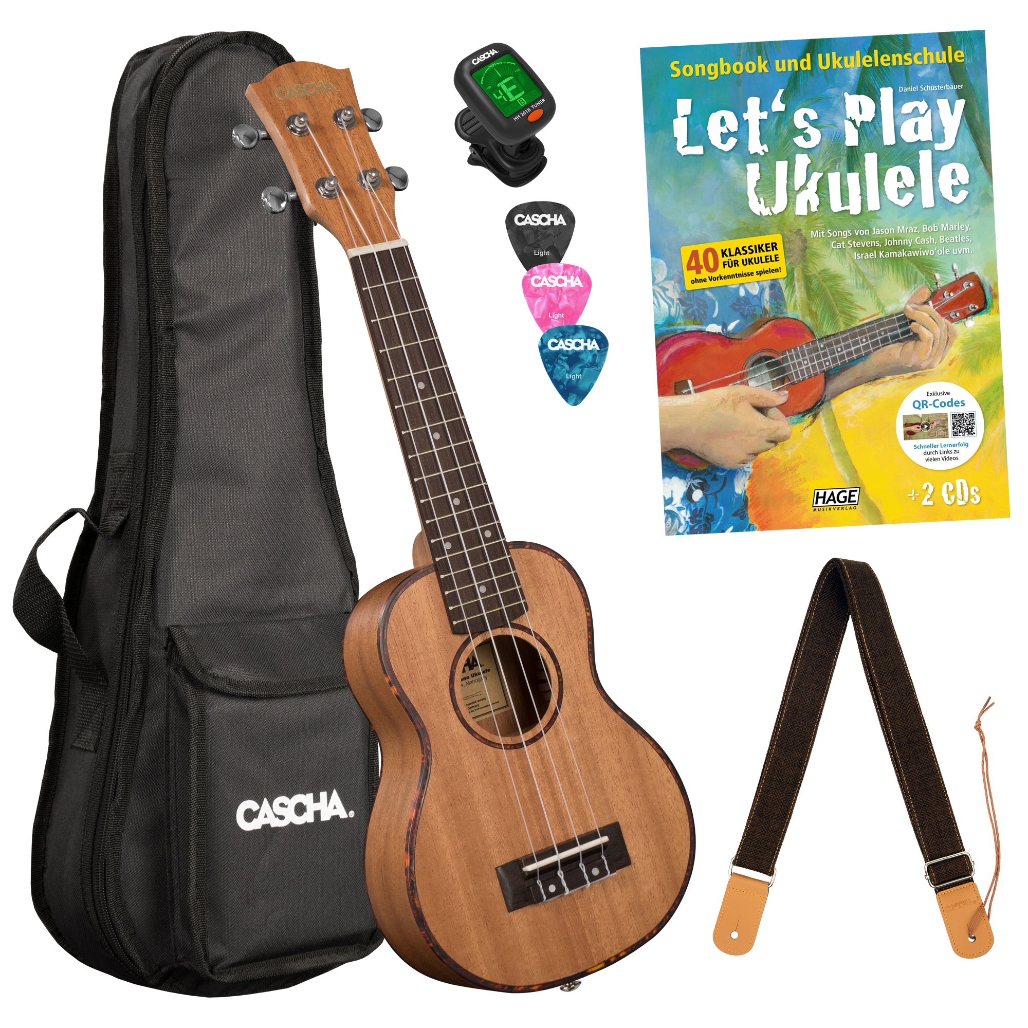 Let's Play Ukulele Einsteiger Set Sopran