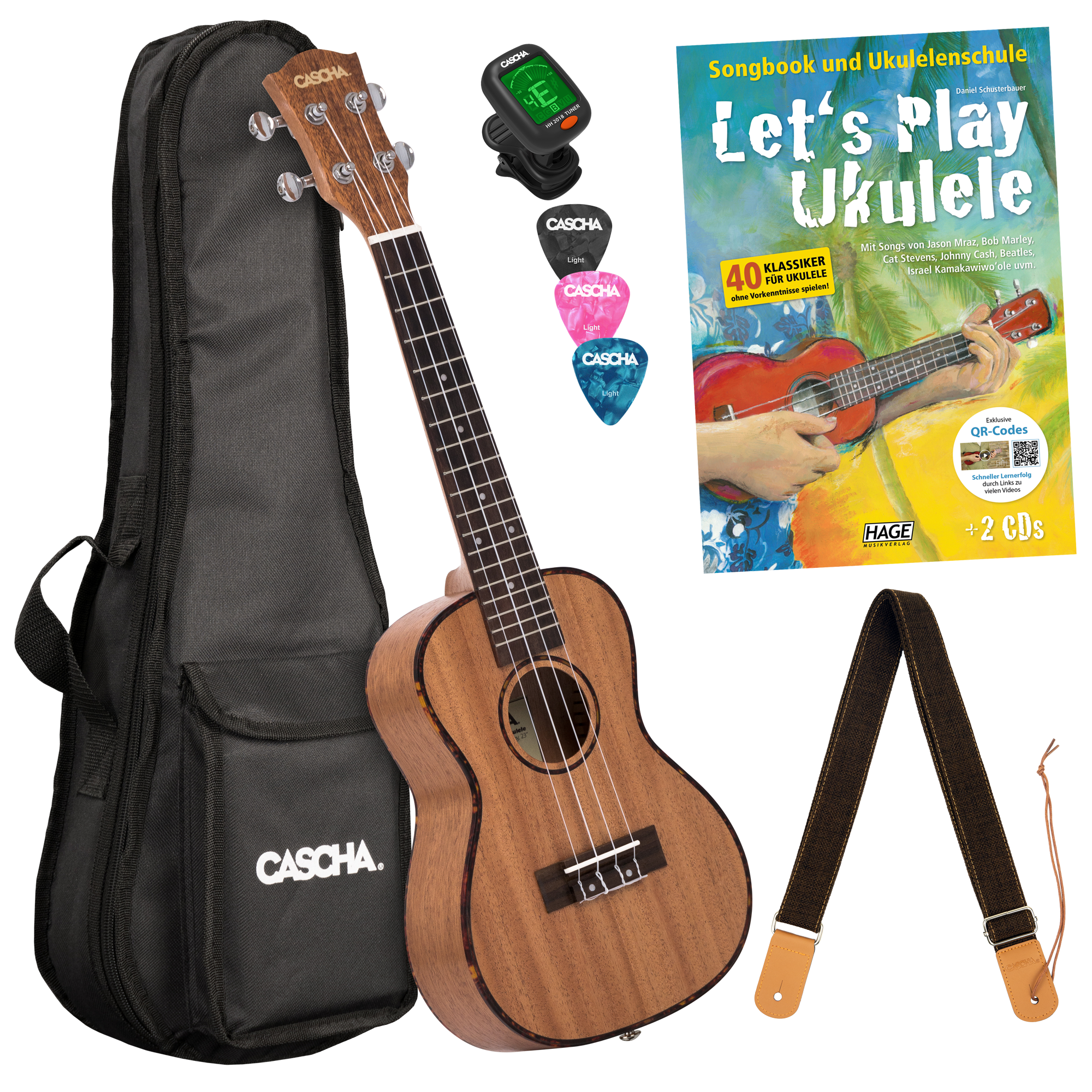 Let's Play Ukulele Einsteiger Set Konzert