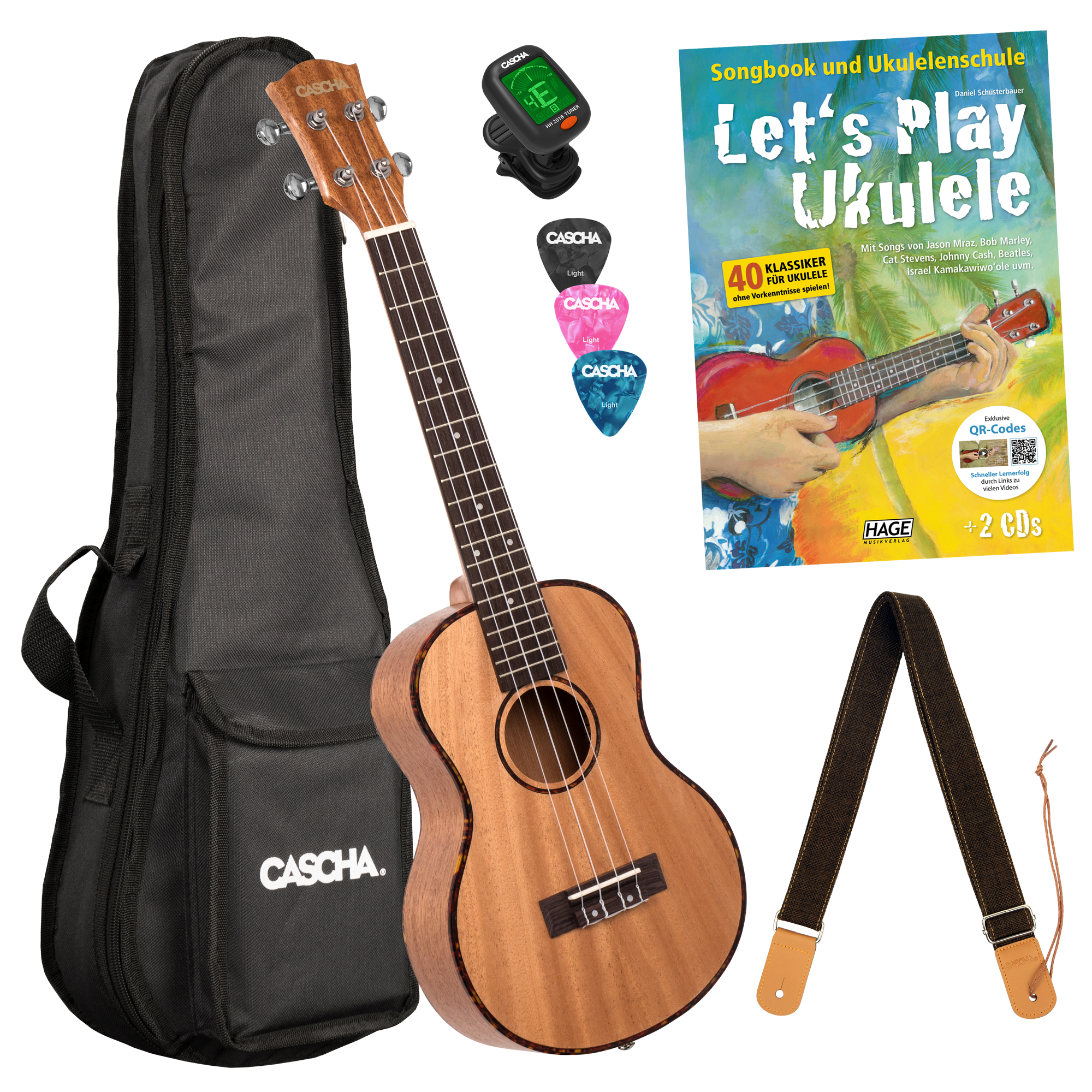 Let's Play Ukulele Einsteiger Set Tenor