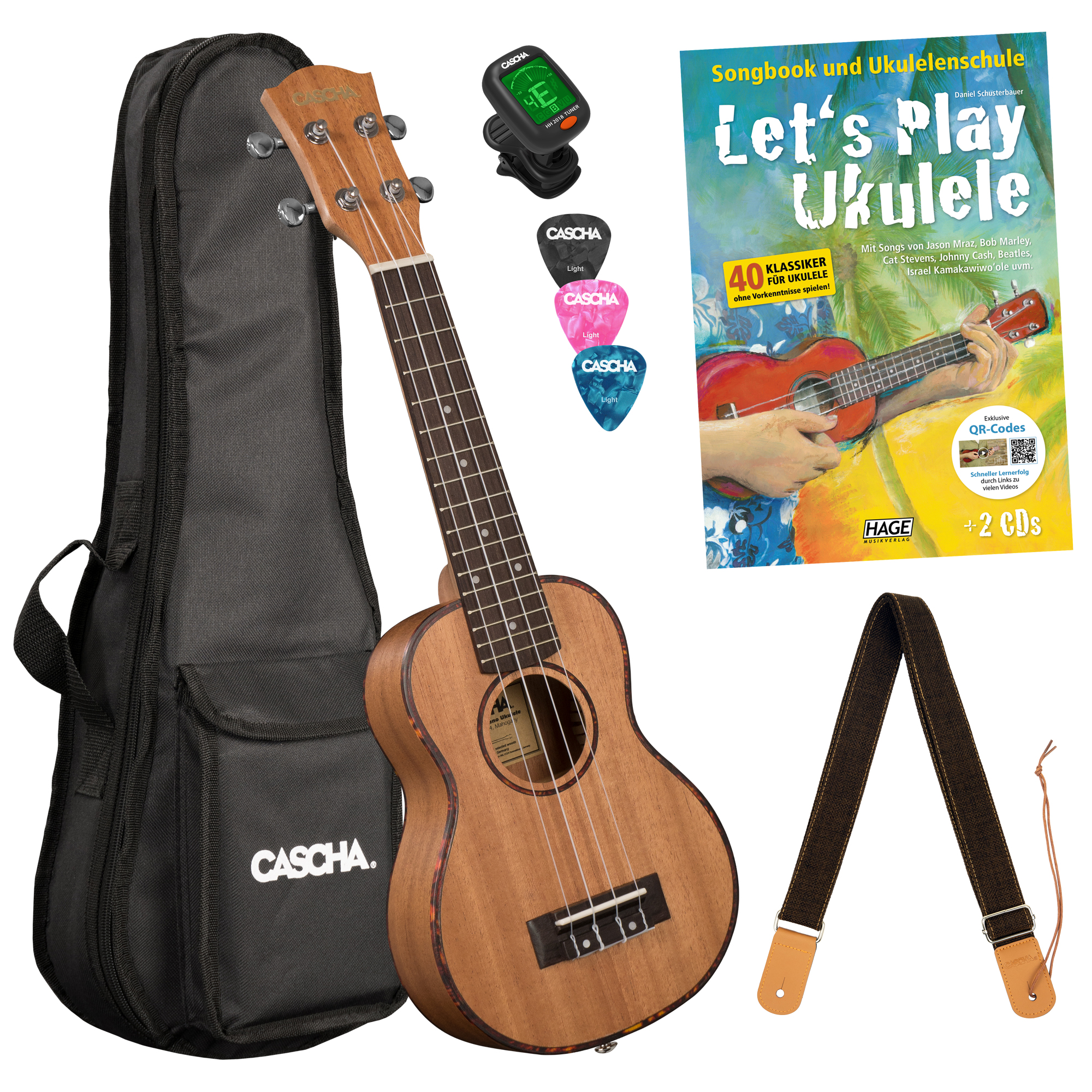 Let's Play Ukulele Einsteiger Set Sopran Bilder 1